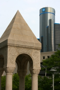 H.H. Richardson's Bagley Memorial Fountain and John Portman's Renaissance Center