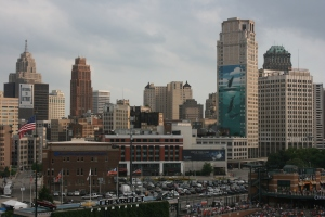 Downtown skyline from Comerica Park